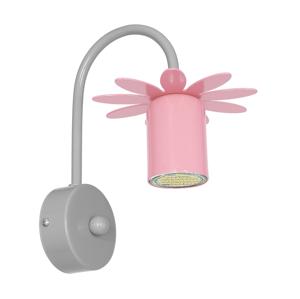 Decoland Dětské nástěnné svítidlo KWIATEK 1xGU10/40W/230V růžová DE7867