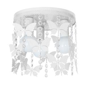 Decoland Dětské stropní svítidlo ELZA butterflies 3xE27/60W/230V bílá DE9790
