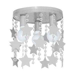Decoland Dětské stropní svítidlo ELZA stars 3xE27/60W/230V šedá DE9753