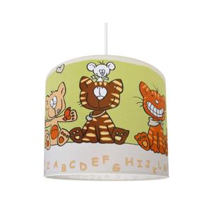 Lampdar Dětský lustr CAT 1xE27/60W/230V zelená SA0766