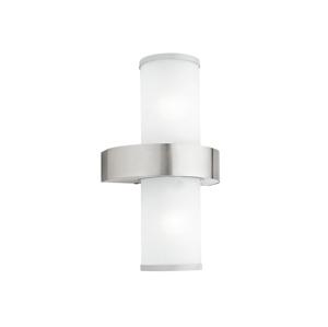 Eglo EGLO 86541 - Venkovní nástěnné svítidlo BEVERLY 2xE27/60W stříbrná / bílá EG86541