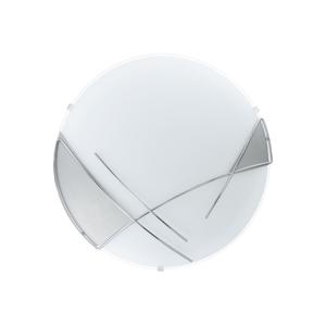 Eglo EGLO 89758 - Nástěnné stropní svítidlo RAYA 1 x E27/60W stříbrná / bílá EG89758
