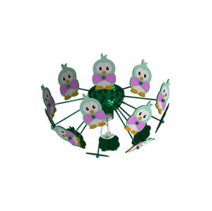 Eglo Eglo 95636 - Dětské stropní svítidlo VIKI 2 1xE27/60W/230V zelená EG95636