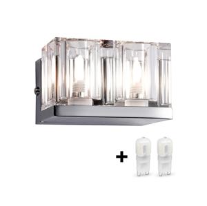 Globo GLOBO 56440-2 - LED Nástěnné svítidlo CUBS 2xG9/3W/230V + 2xG9/33W zdarma LEDGL1585