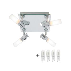 TOP LIGHT LED Koupelnové bodové svítidlo LINATE 4H 4xG9/5W + 4xG9/25W TP0253
