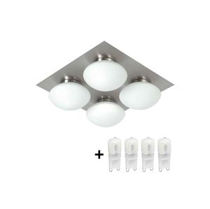 TOP LIGHT LED Koupelnové stropní svítidlo DUNAJ 4 4xG9/3W/230V + 4xG9/40W/230V ZDARMA TP0247