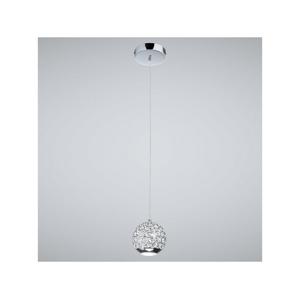 Auhilon LED Křišťálový lustr na lanku ANDREA 1xLED/8W/230V AU0050