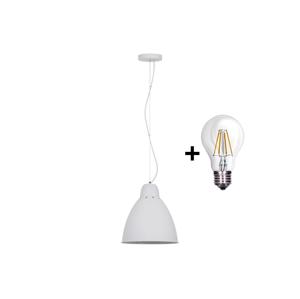 Solight LED Lustr 1xE27/8W/230V bílá 29,5cm SL0098