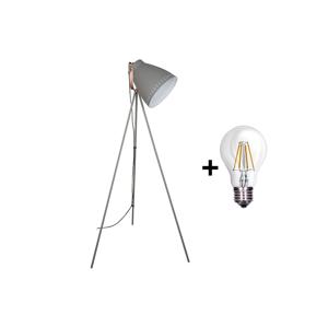 Solight LED Stojací lampa 1xE27/8W/230V šedá 145cm SL0106