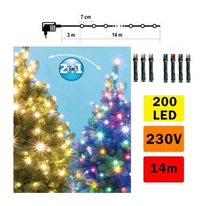 FK Technics LED Vánoční řetěz venkovní 200xLED/230V IP44 FK0187