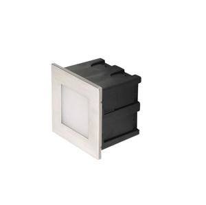 EMOS LIGHTING LED orientační vestavné svítidlo, čtv. 1,5W teplá bílá IP65