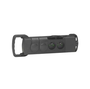 Legrand Legrand 50533 - Zásuvka gumová bez kabelu 250V/16A 4X2P+T IP44 černá SM50553