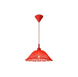 Lucide Lucide 08409/37/32 - Závěsné svítidlo CORTI 1xE27/60W/230V červené LC1000