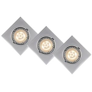 Lucide Lucide 11002/15/36 - SADA 3x LED podhledové svítidlo FOCUS 3xGU10/5W/230V šedé hranaté LC1086
