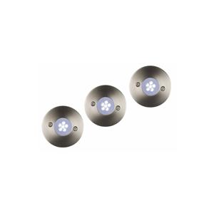 Lucide Lucide 11862/23/31 - SADA 3xLED venkovní nájezdové svítidlo TRIO 3xLED/1,1W/230V LC1104