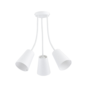 TK Lighting Lustr na tyči WIRE WHITE 3xE27/60W/230V TK2097