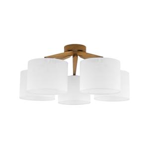 TK Lighting Lustr přisazený LICCIA WOOD 5xE27/60W/230V TK1753