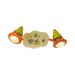 Luxera Luxera 28013 - Dětské bodové svítidlo SAFARI 2xE14/40W/230V 28013