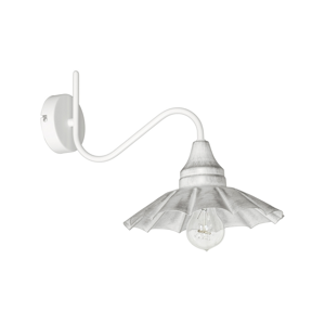 Luminex Nástěnné svítidlo DARIUS 1xE27/60W/230V bílá LU8238