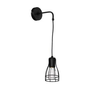 Luminex Nástěnné svítidlo MARION BLACK 1xE27/60W/230V LU5955