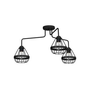 Decoland Přisazený lustr RING 3xE27/60W/230V černý DE9559