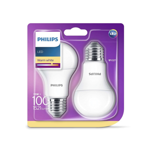 Philips SADA 2x LED žárovka Philips E27/13W/230V P2120