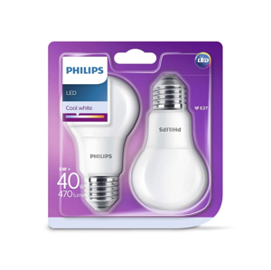 Philips SADA 2x LED Žárovka Philips E27/5W/230V 4000K P2297